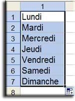 Cours / tutoriel Excel - Dates et séries de valeurs - MOSAIQUE Informatique - 54 - Nancy - Meurthe et Moselle - Lorraine