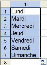 La sélection est recopiée vers le bas - Excel - MOSAIQUE Informatique - 54 - Nancy - Meurthe et Moselle - Lorraine