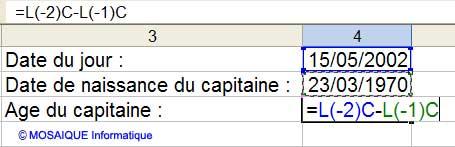 La saisie de la formule - Excel - MOSAIQUE Informatique - 54 - Nancy - Meurthe et Moselle - Lorraine - Apprendre Excel