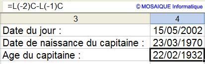 Résultat pour le moins surprenant ! - Excel - MOSAIQUE Informatique - 54 - Nancy - Meurthe et Moselle - Lorraine - Apprendre Excel