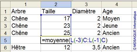L'écriture de la formule - Excel - MOSAIQUE Informatique - 54 - Nancy - Meurthe et Moselle - Lorraine