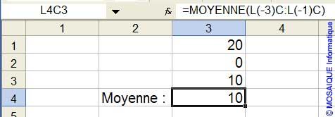 La valeur 0 est considérée comme une valeur numérique dans le calcul de la moyenne - Excel - MOSAIQUE Informatique - 54 - Nancy - Meurthe et Moselle - Lorraine