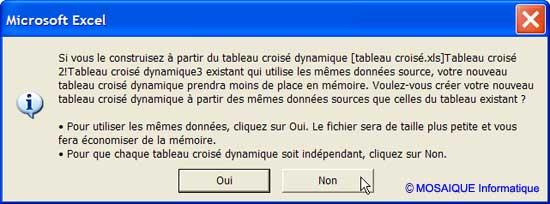 La boîte de dialogue Microsoft Excel - Excel - MOSAIQUE Informatique - Formations informatiques et création de sites web - 54 - Nancy - Meurthe et Moselle - Lorraine