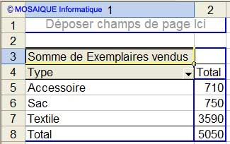Le résultat obtenu - Excel - MOSAIQUE Informatique - Formations informatiques et création de sites web - 54 - Nancy - Meurthe et Moselle - Lorraine