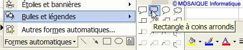 Le choix de la forme automatique - Excel - MOSAIQUE Informatique - Formations informatiques et création de sites internet - 54 - Nancy - Meurthe et Moselle - Lorraine