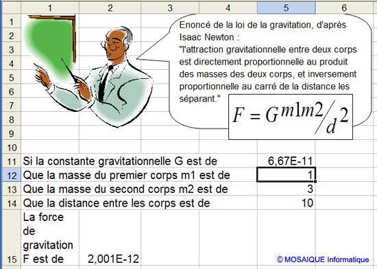 Les données et les formules sont ajoutées au tableau - Excel - MOSAIQUE Informatique - Formations informatiques et création de sites internet - 54 - Nancy - Meurthe et Moselle - Lorraine