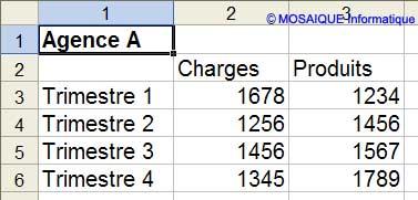 Les données à saisir - Excel - MOSAIQUE Informatique - Formations informatiques et création de sites web - 54 - Nancy - Meurthe et Moselle - Lorraine