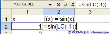 La formule de la seconde colonne - Excel - MOSAIQUE Informatique - Formations informatiques et création de sites web - 54 - Nancy - Meurthe et Moselle - Lorraine