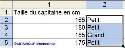 La formule est recopiée - Excel - MOSAIQUE Informatique - Tutoriels en ligne - 54 - Nancy - www.mosaiqueinformatique.fr