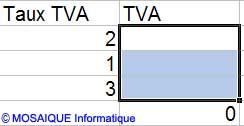 L'effacement des cellules - Excel - MOSAIQUE Informatique - Tutoriels en ligne - 54 - Nancy - www.mosaiqueinformatique.fr