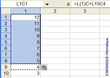 La plage de cellules sur laquelle est appliqué le Coller - Excel - MOSAIQUE Informatique - Cours Excel - 54 - Nancy - www.mosaiqueinformatique.fr