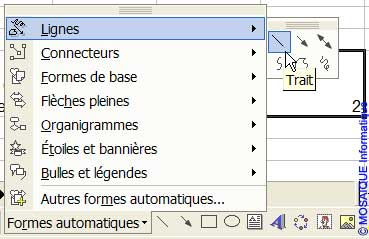 Le choix de la forme automatique - Excel - MOSAIQUE Informatique - Cours Excel - 54 - Nancy - www.mosaiqueinformatique.fr