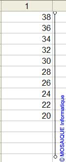 Le tracé de la ligne verticale - Excel - MOSAIQUE Informatique - Cours Excel - 54 - Nancy - www.mosaiqueinformatique.fr