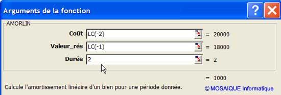 La zone suivante est renseignée à son tour - Excel - MOSAIQUE Informatique - 54 - Nancy - Cours et tutoriels de formation