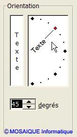 Les titres des colonnes sont inclinés - Excel - MOSAIQUE Informatique - 54 - Nancy - Cours et tutoriels de formation