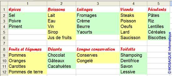 L'application d'un motif comme fond de cellules - Excel - MOSAIQUE Informatique - 54 - Nancy - Meurthe et Moselle - Lorraine
