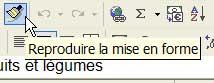 L'icône Reproduire la mise en forme - Excel - MOSAIQUE Informatique - 54 - Nancy - Meurthe et Moselle - Lorraine