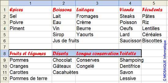 La mise en forme est reproduite sur la ligne 8 - Excel - MOSAIQUE Informatique - 54 - Nancy - Meurthe et Moselle - Lorraine