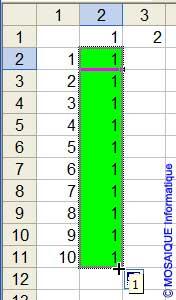 La recopie vers le bas - Excel - MOSAIQUE Informatique - 54 - Nancy - Meurthe et Moselle - Lorraine