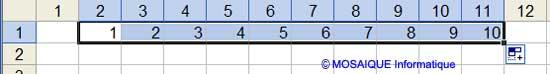 La recopie incrémentée - Excel - MOSAIQUE Informatique - 54 - Nancy - Meurthe et Moselle - Lorraine