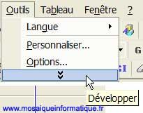 Les menus courts sont déroutants pour les utilisateurs débutants (et pour les autres aussi !) - Excel - MOSAIQUE Informatique - Sites Internet - 54 - Nancy - www.mosaiqueinformatique.fr