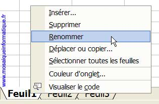 Un clic droit sur les onglets de feuilles vous permet de les réorganiser - Excel - MOSAIQUE Informatique - Formation Excel - 54 - Nancy - www.mosaiqueinformatique.fr