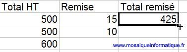 La poignée de recopie - Excel - MOSAIQUE Informatique - Création de logiciels  - 54 - Nancy - www.mosaiqueinformatique.fr