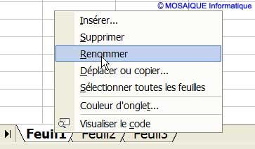 L'onglet est renommé - Excel - MOSAIQUE Informatique - Sites web - 54 - Nancy - www.mosaiqueinformatique.fr