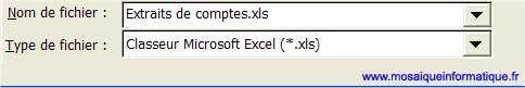 Le nom affecté au premier classeur - Excel - MOSAIQUE Informatique - Livres informatiques - 54 - Nancy - www.mosaiqueinformatique.fr