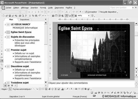 Didacticiel photo numérique - L'insertion d'une image dans une diapositive