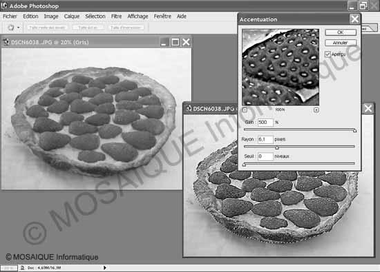 Photo numérique - L'application de filtres permet de modifier la netteté d'une image