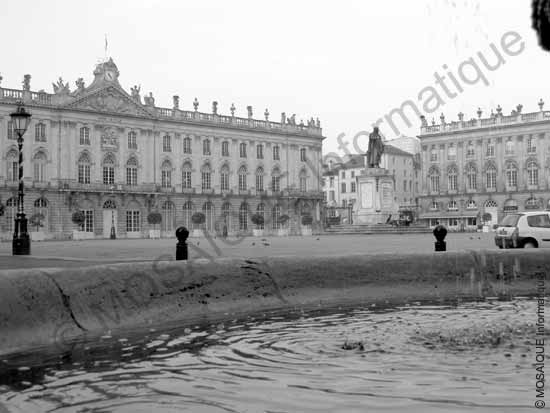 Photo numérique - Cette photographie de la Place Stanislas à Nancy va servir de fond