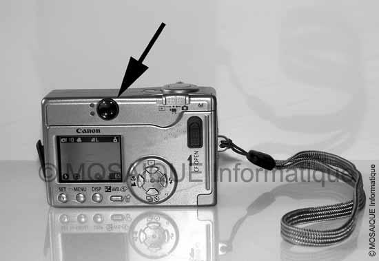 Tutoriel photo numérique - Les composants de l'appareil photo numérique - Le viseur optique du Canon IXUS V3