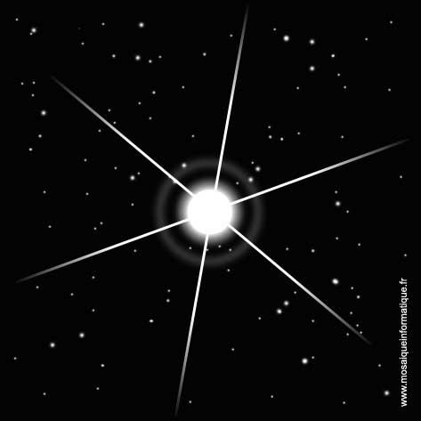 Des étoiles sont ajoutées - Photoshop - MOSAIQUE Informatique - 54 - Nancy