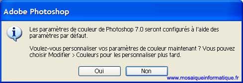 Les paramètres de couleur ne seront pas modifiés - Photoshop - MOSAIQUE Informatique - 54 - Nancy - www.mosaiqueinformatique.fr