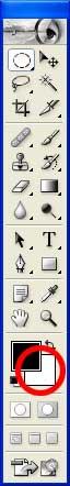 La définition de la couleur d'arrière-plan dans la palette Outils - Photoshop - MOSAIQUE Informatique - 54 - Nancy - www.mosaiqueinformatique.fr