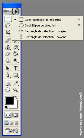 Les outils de sélection - Photoshop - MOSAIQUE Informatique - 54 - Nancy - www.mosaiqueinformatique.fr