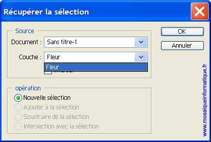 La récupération de la sélection - Photoshop - MOSAIQUE Informatique - 54 - Nancy - www.mosaiqueinformatique.fr