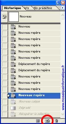 La création d'un instantanné - Photoshop - MOSAIQUE Informatique - 54 - Nancy - www.mosaiqueinformatique.fr