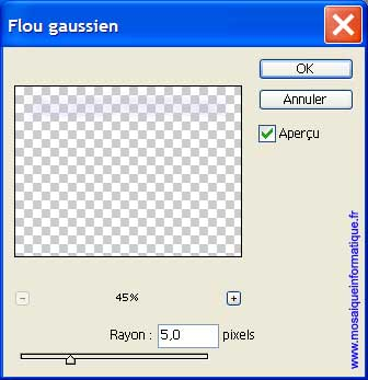 L'application du flou gaussien - Photoshop - MOSAIQUE Informatique - Sites Internet - 54000 - Nancy - Meurthe et Moselle - www.mosaiqueinformatique.fr