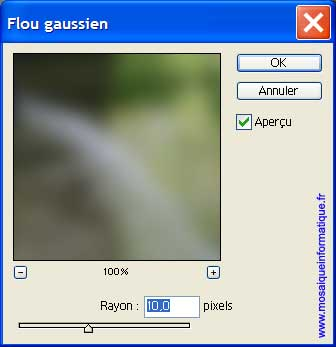 L'application du filtre Flou gaussien - Photoshop - MOSAIQUE Informatique - Création de sites web - 54000 - Nancy - Meurthe et Moselle -  www.mosaiqueinformatique.fr