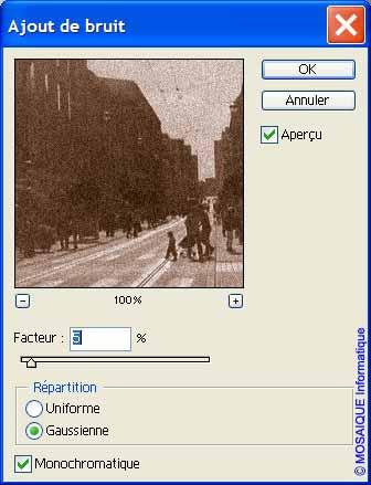 Photoshop - Du bruit est ajouté à l'image