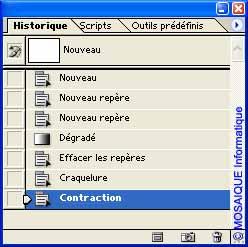 Photoshop - Création d'un instantané depuis la palette Historique