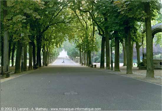 Le parc de la Pépinière à Nancy, près de la Place Stanislas - Tutoriel Photoshop