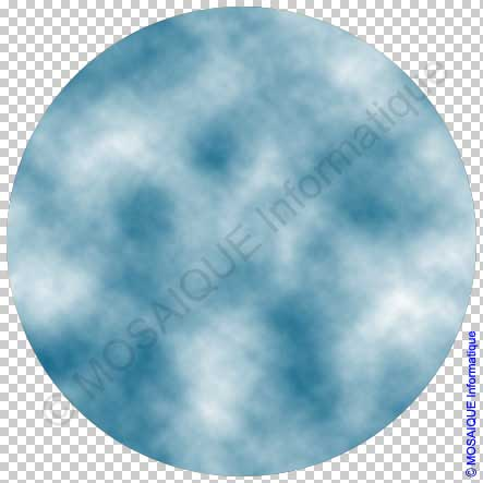 Photoshop - Application du filtre Nuages