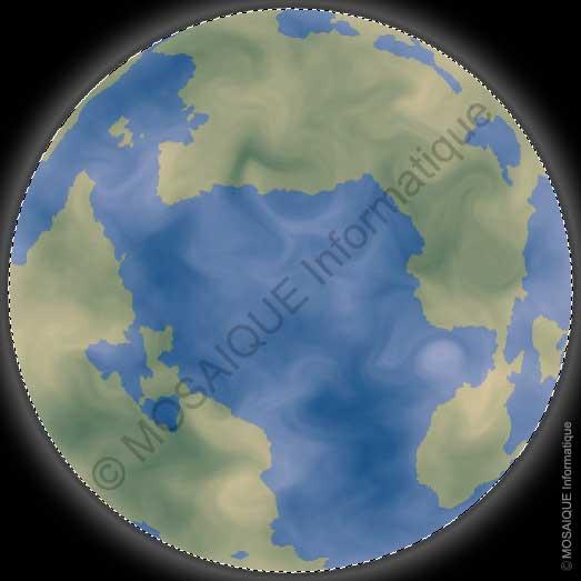 La création de la couche atmosphérique - Photoshop