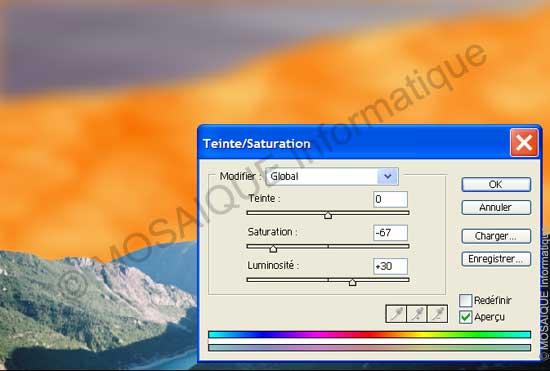 Photoshop - Réglage de la saturation et de la luminosité