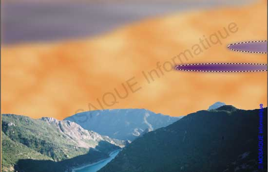 Photoshop - La création des nuages avec l'outil Elipse de sélection