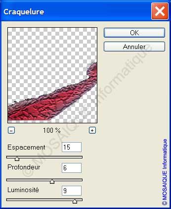 Photoshop - Le filtre Craquelures