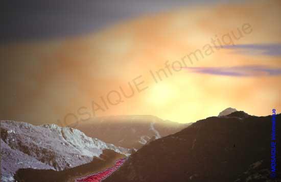 Photoshop - Création de la brume avec l'outil Gomme